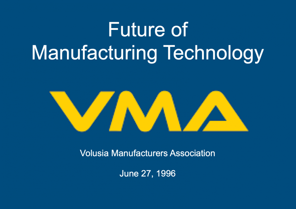 Future of Manufacturing Speech
