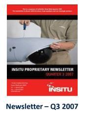Q3 2007 Insitu Newsletter